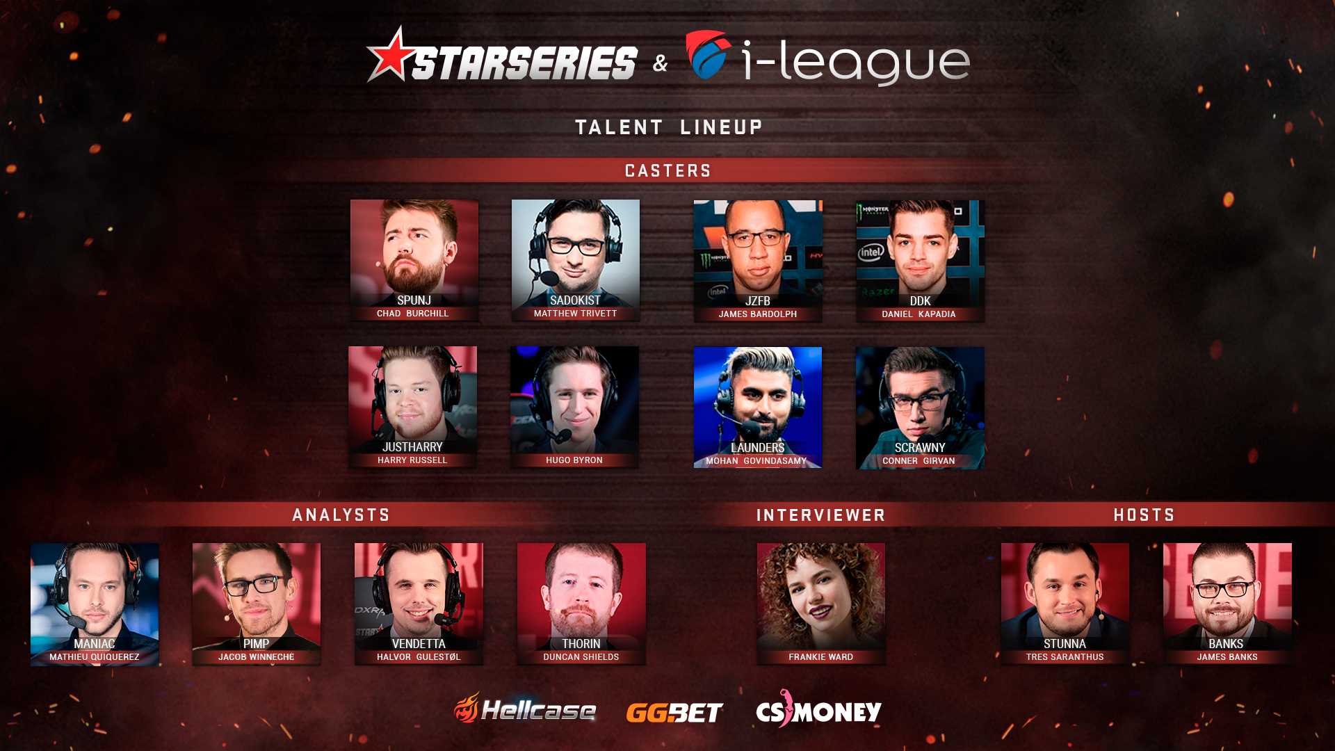 StarSeries i-League CS:GO Season 7 Talent lineup