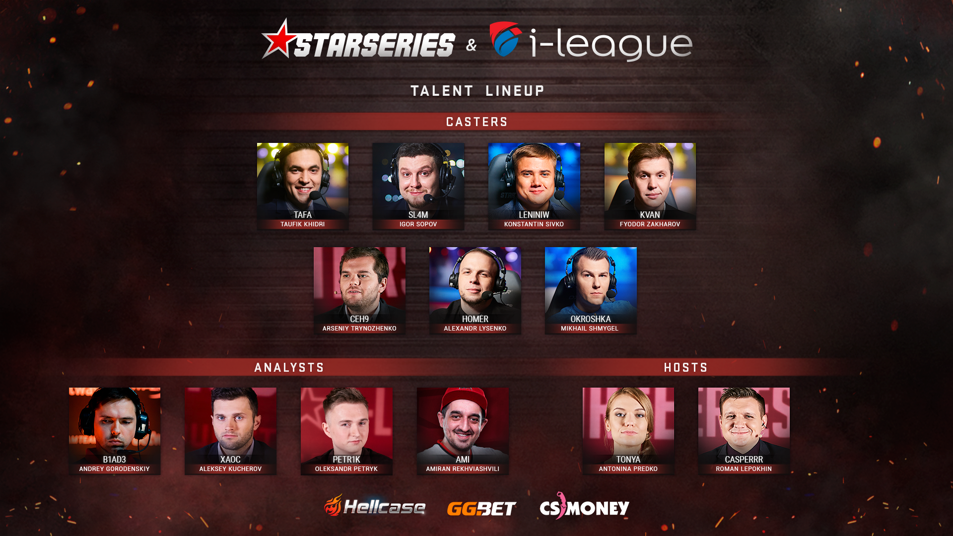 StarSeries i-League CS:GO Season 7 Russian Talent lineup