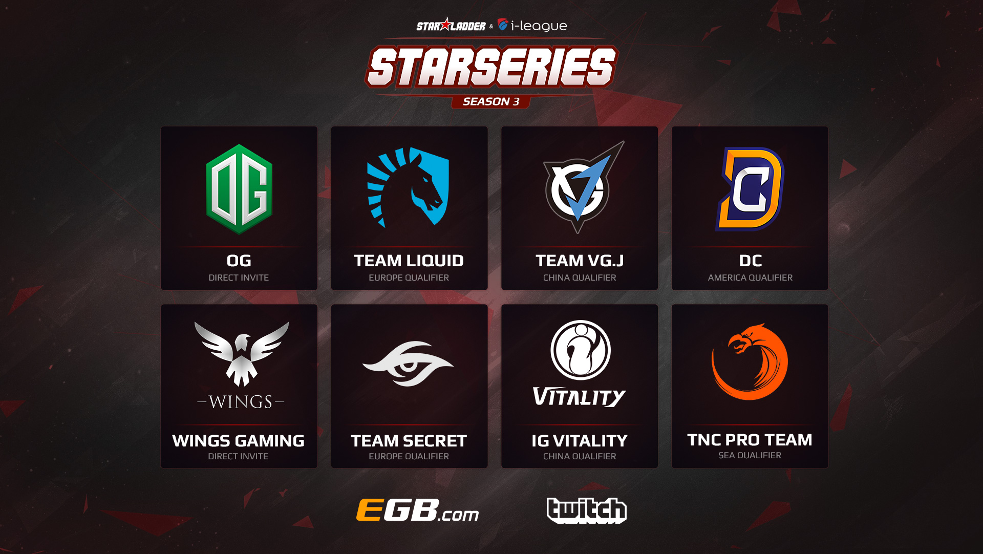 SL i-League StarSeries S3 Participants