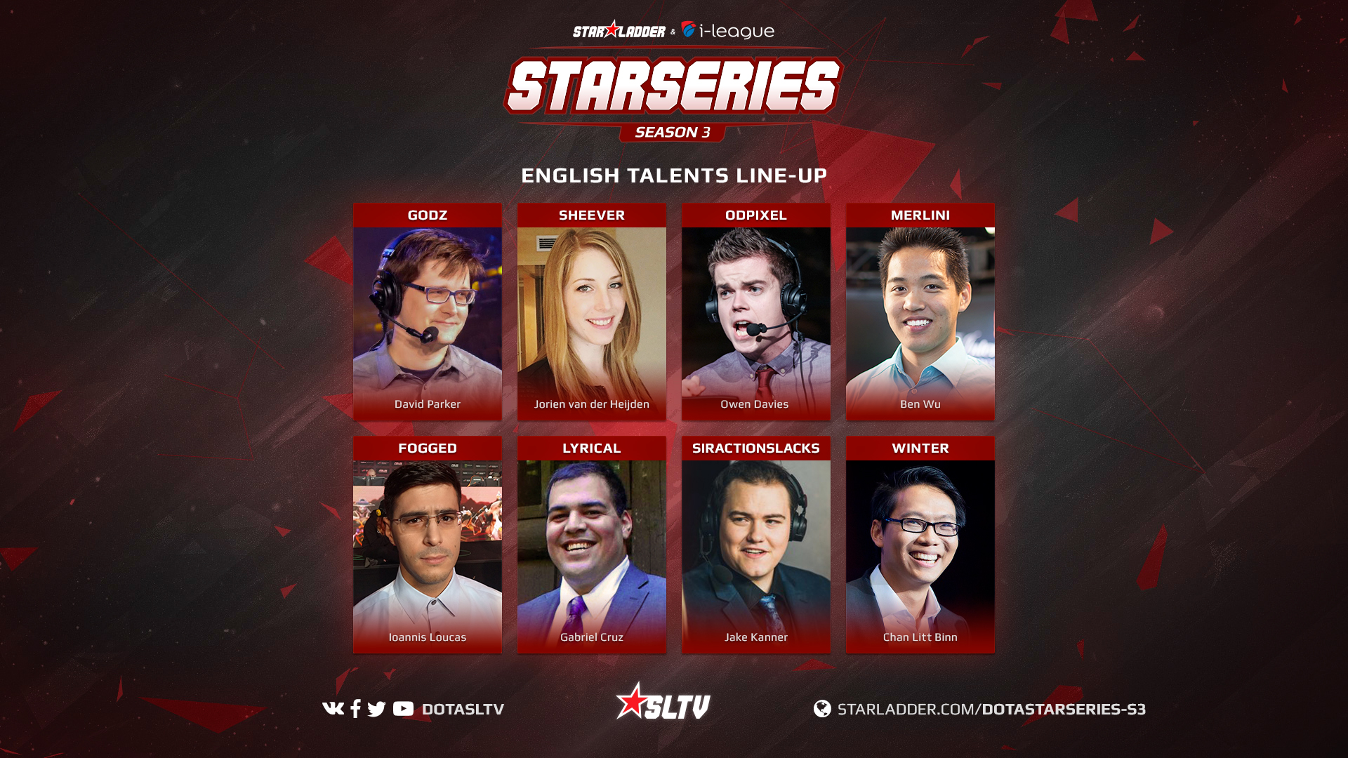 SL i-League StarSeries talents GoDz Sheever ODPixel Merlini Fogged Lyrical SirActionSlacks WinteR