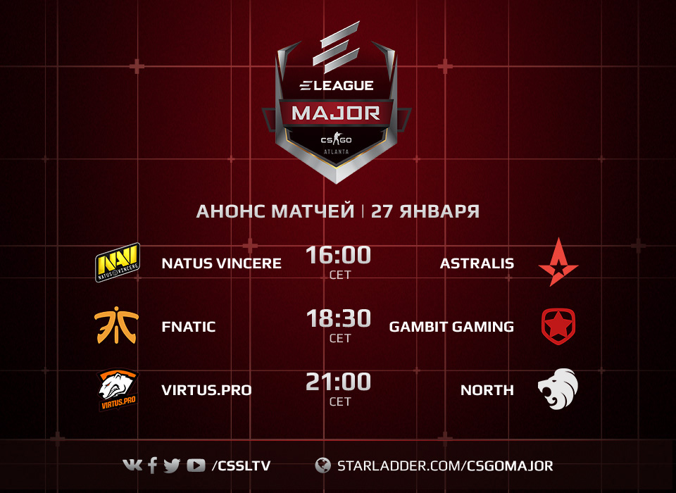 ELEAGUE Major schedule play-offs