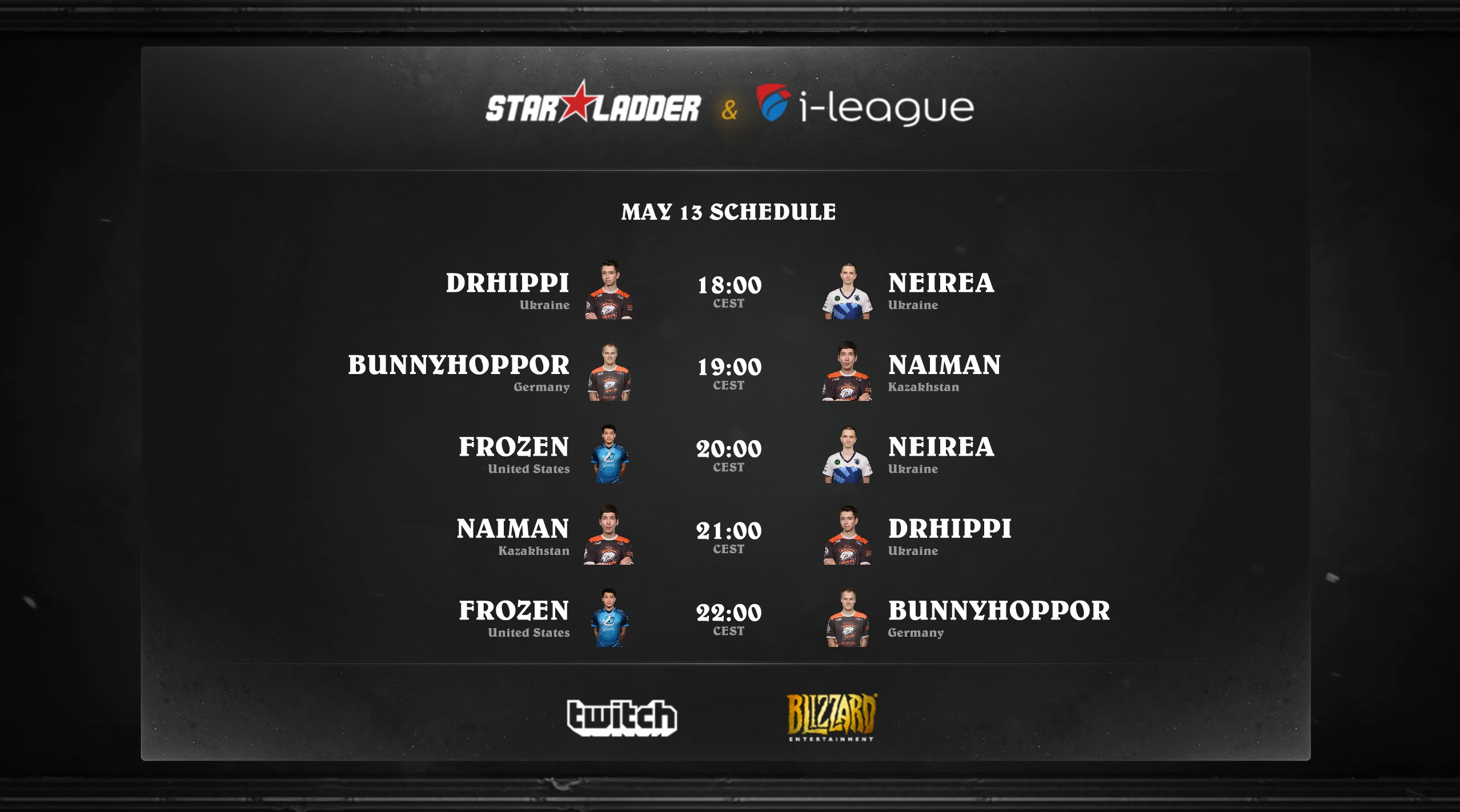 Hearthstone StarSeries May 13 schedule