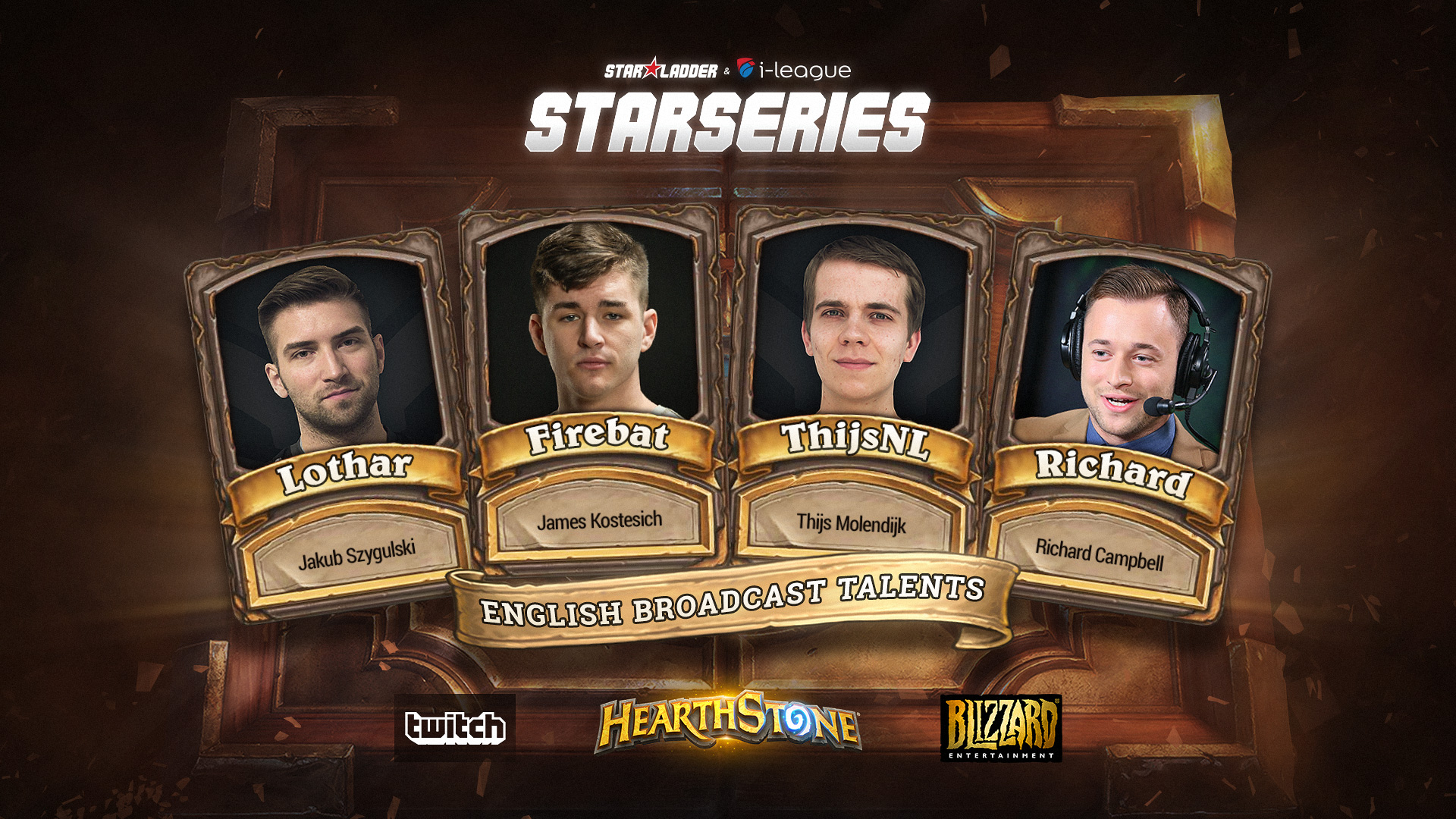 Hearthstone StarSeries english talents