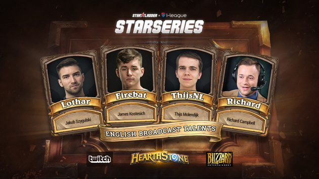 Thijs and Firebat will comment on Finals of the Hearthstone StarSeries