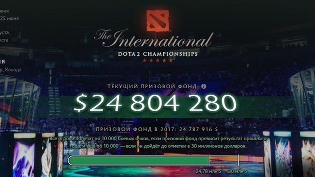 Prize fund of The International 2018 breaks the record of 2017