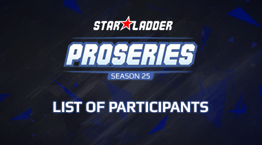 Participants' list of the 25th season within the Pro League