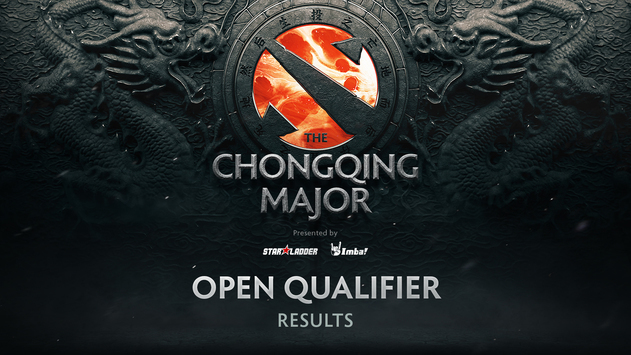 Results of the open qualifiers for The Chongqing Major