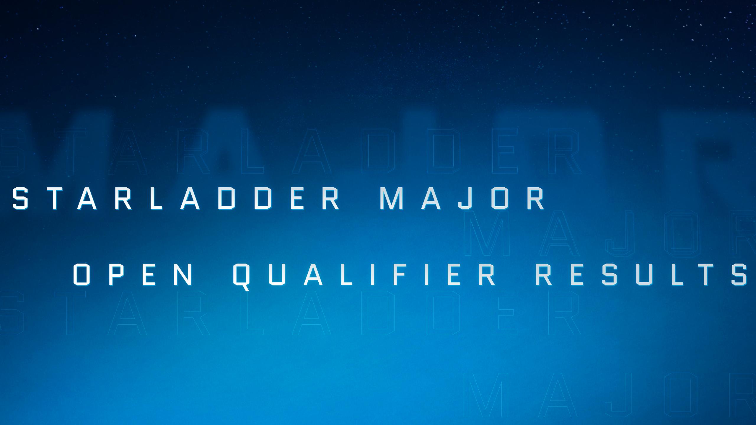 Результаты открытых квалификаций StarLadder Major 2019