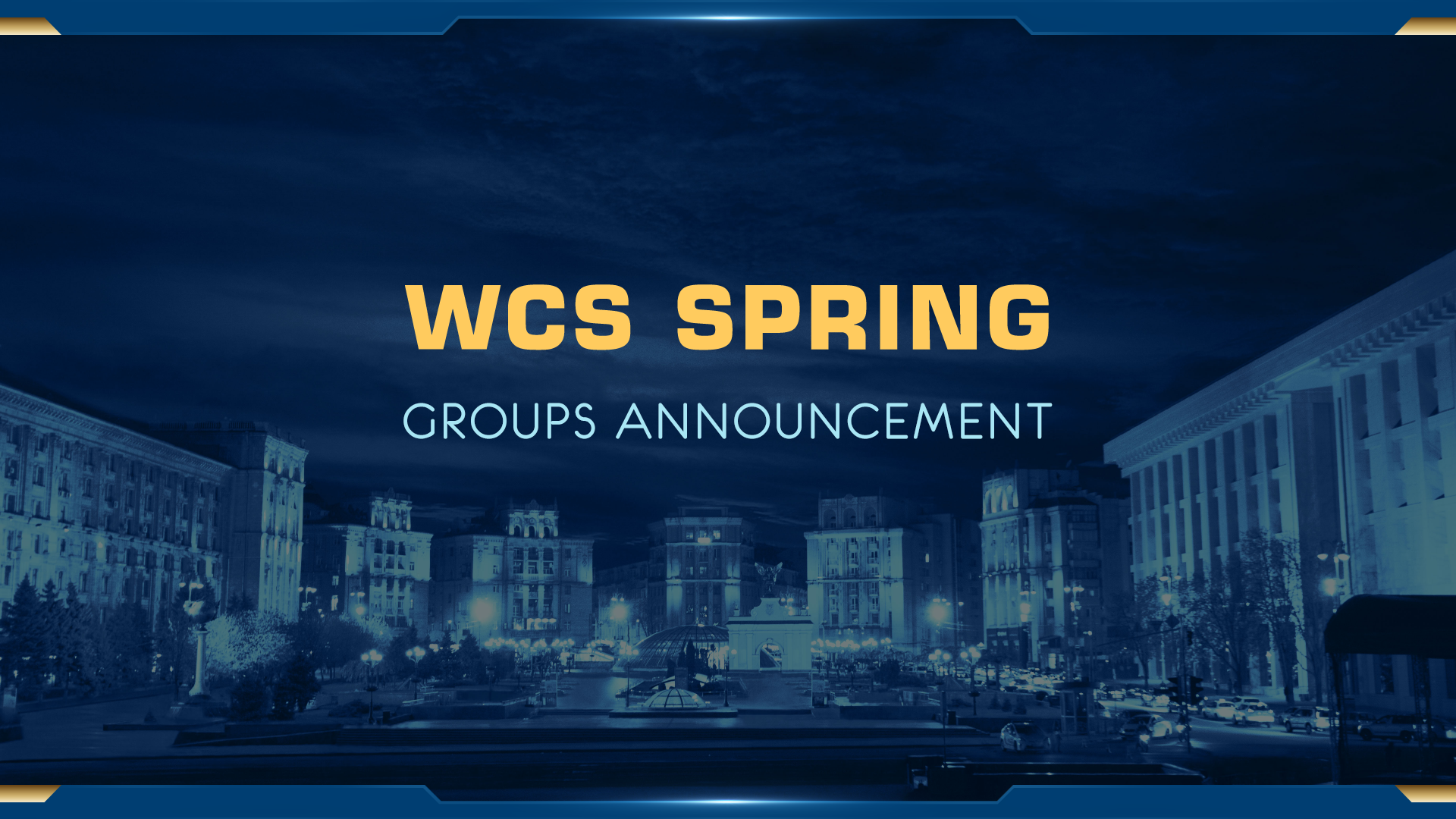 WCS Spring: Full Players List and Groups