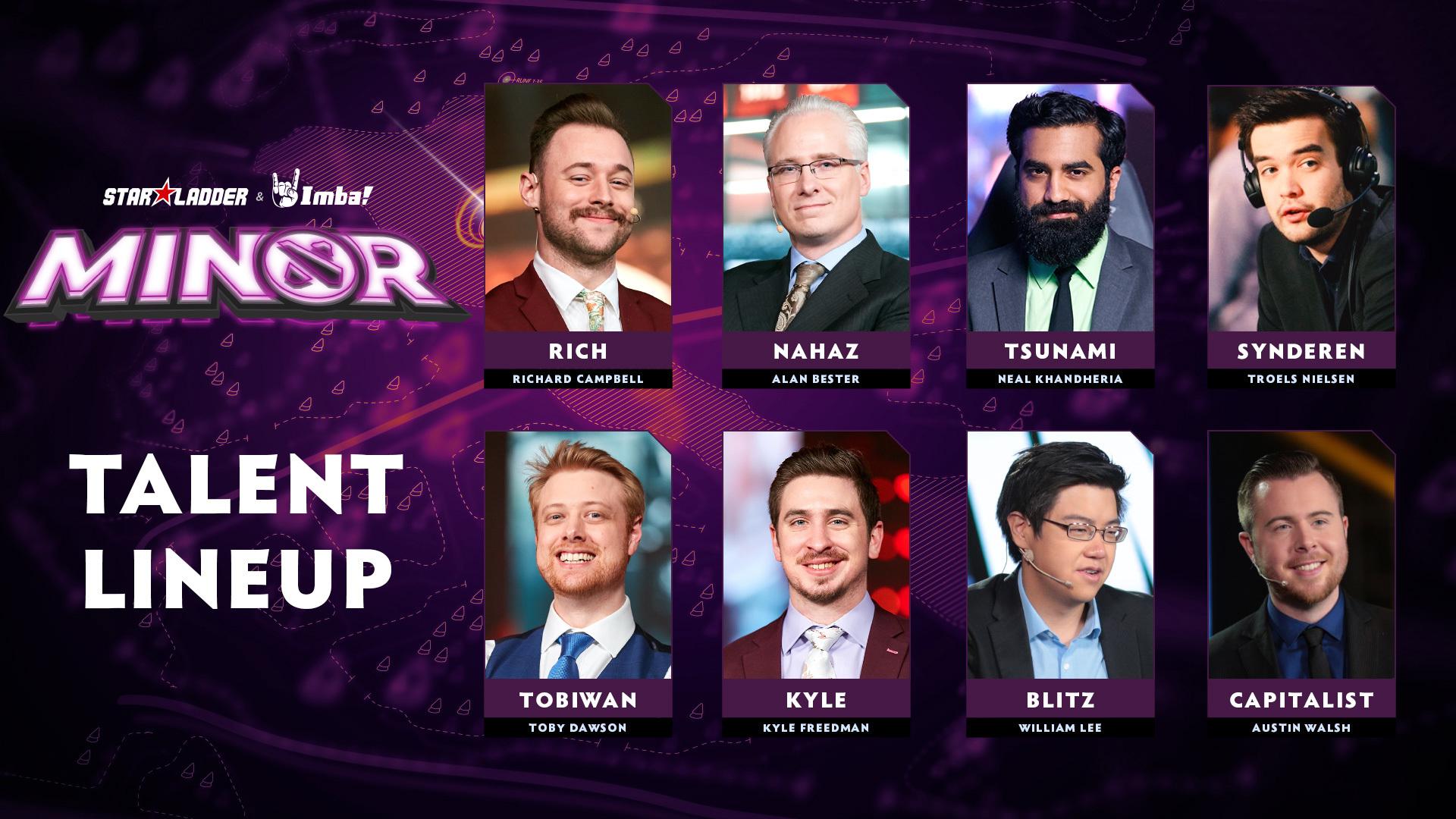 Welcome the talent lineup for StarLadder ImbaTV Dota 2 Minor!