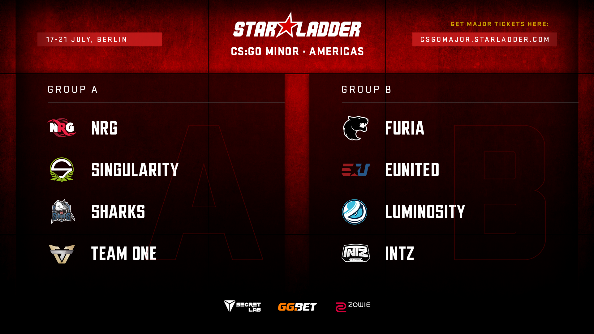 StarLadder Major Berlin 2019: Americas Minor group stage draw
