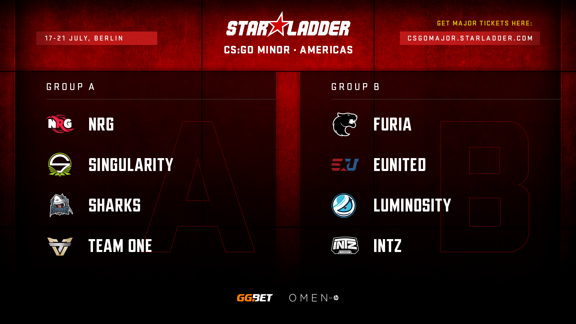 Посев команд на StarLadder Major Berlin 2019: Americas Minor