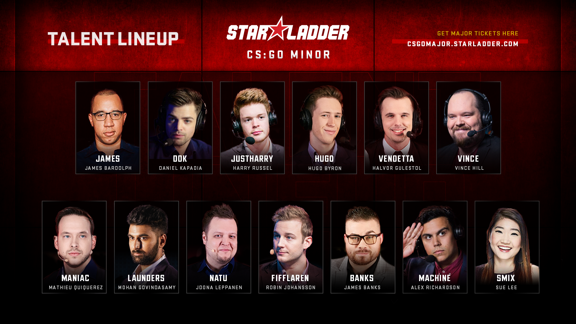 Talent lineup for StarLadder Major Berlin 2019: Europe and Americas Minor