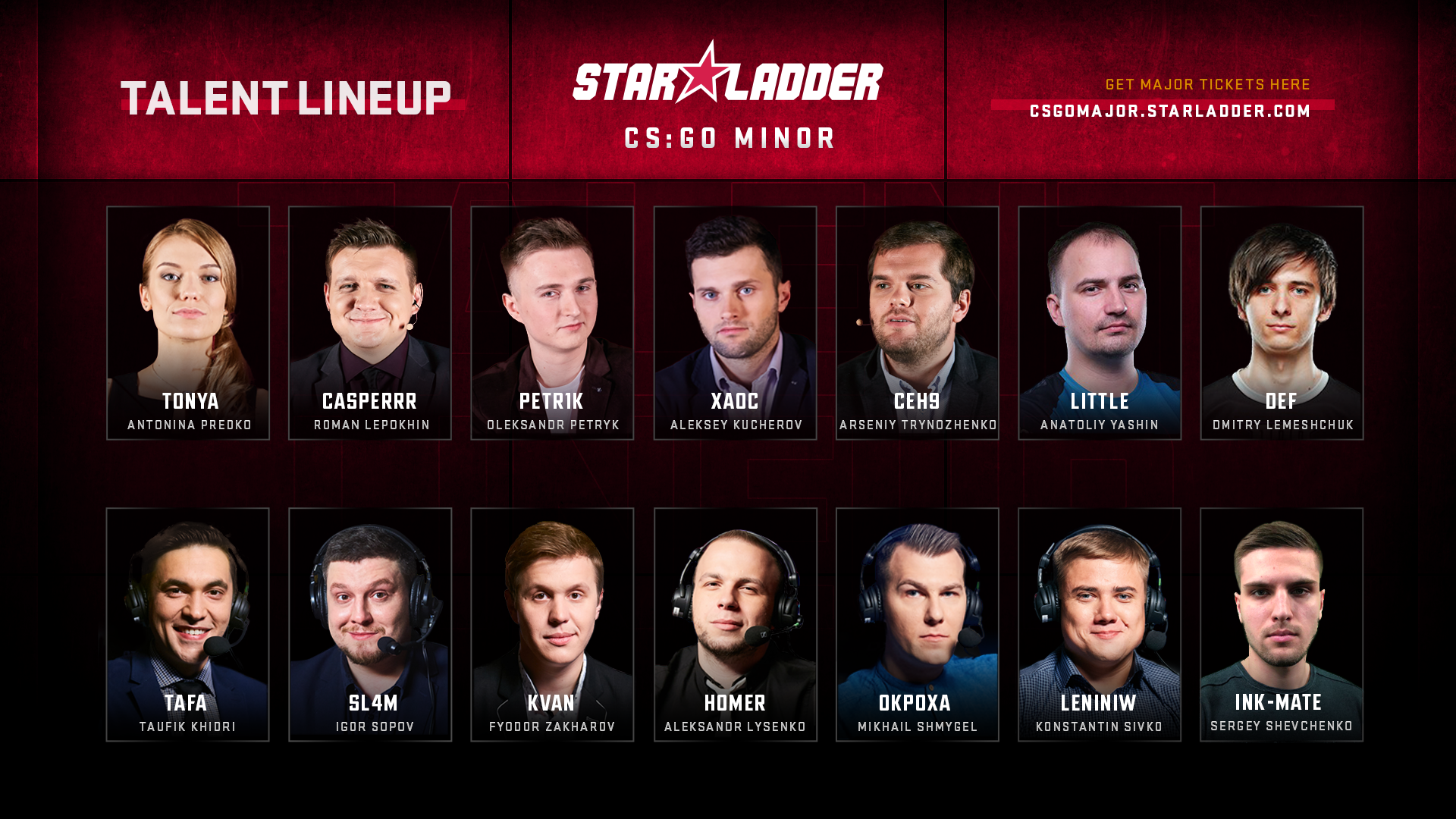 Состав талантов на StarLadder Major Berlin 2019: Europe и Americas Minor