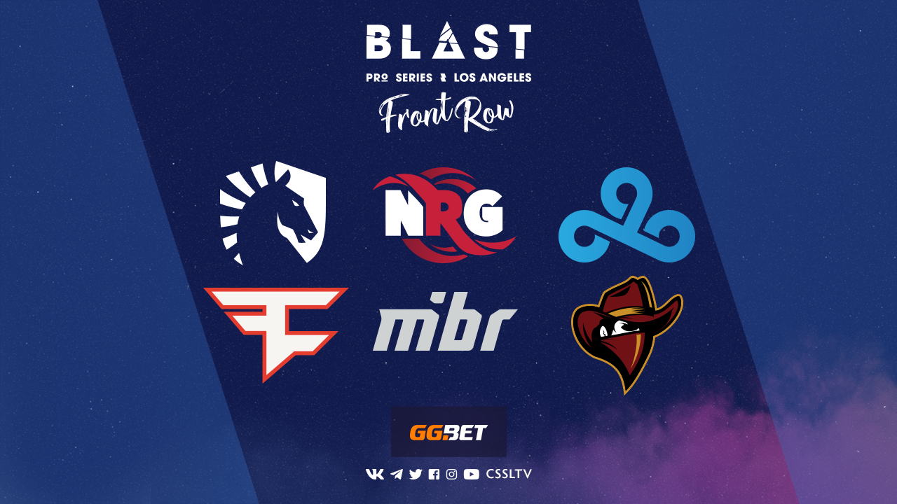 StarLadder проведёт трансляцию BLAST Pro Series: Los Angeles 2019