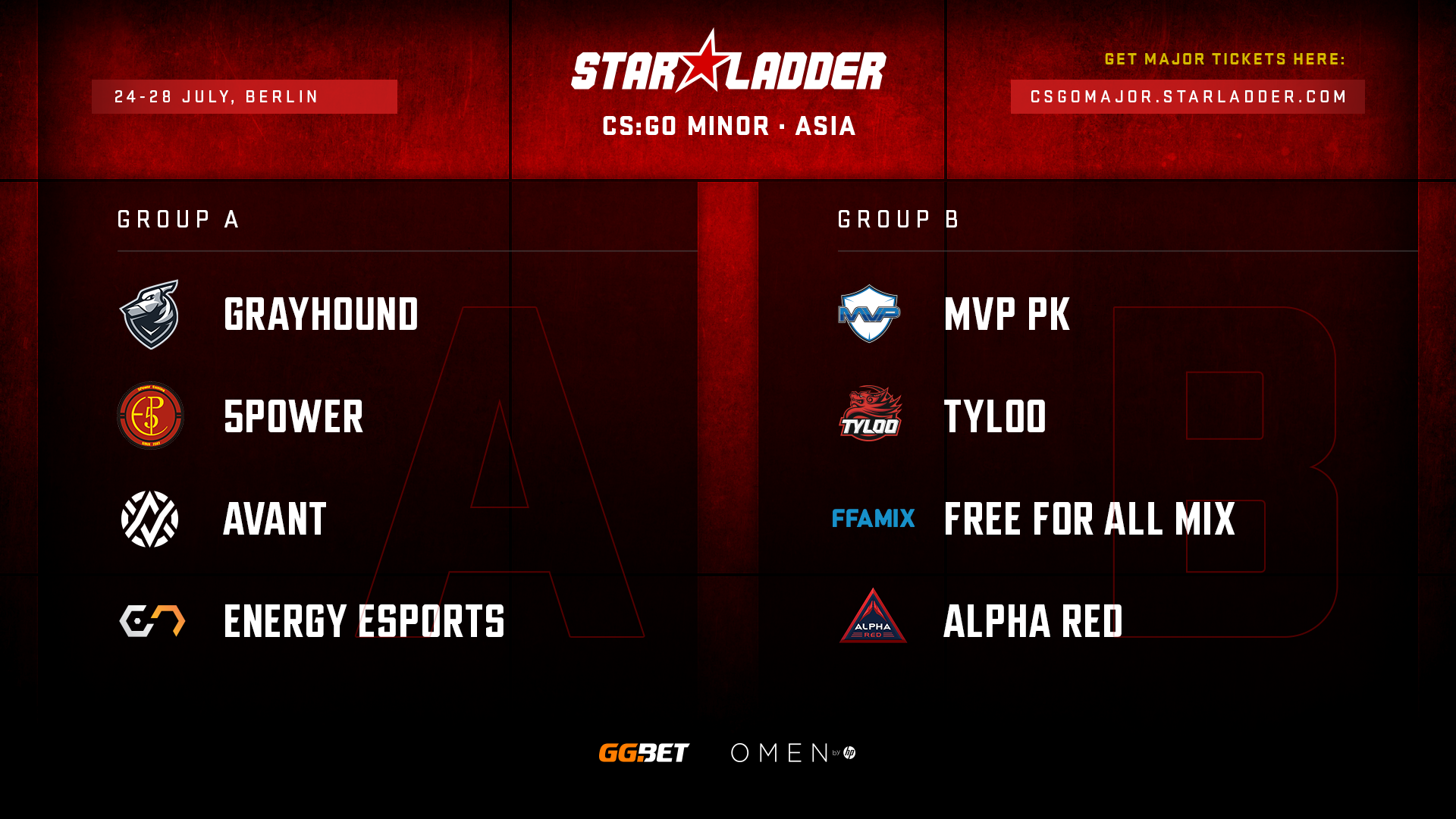 Посев команд на StarLadder Major Berlin 2019: Asia Minor