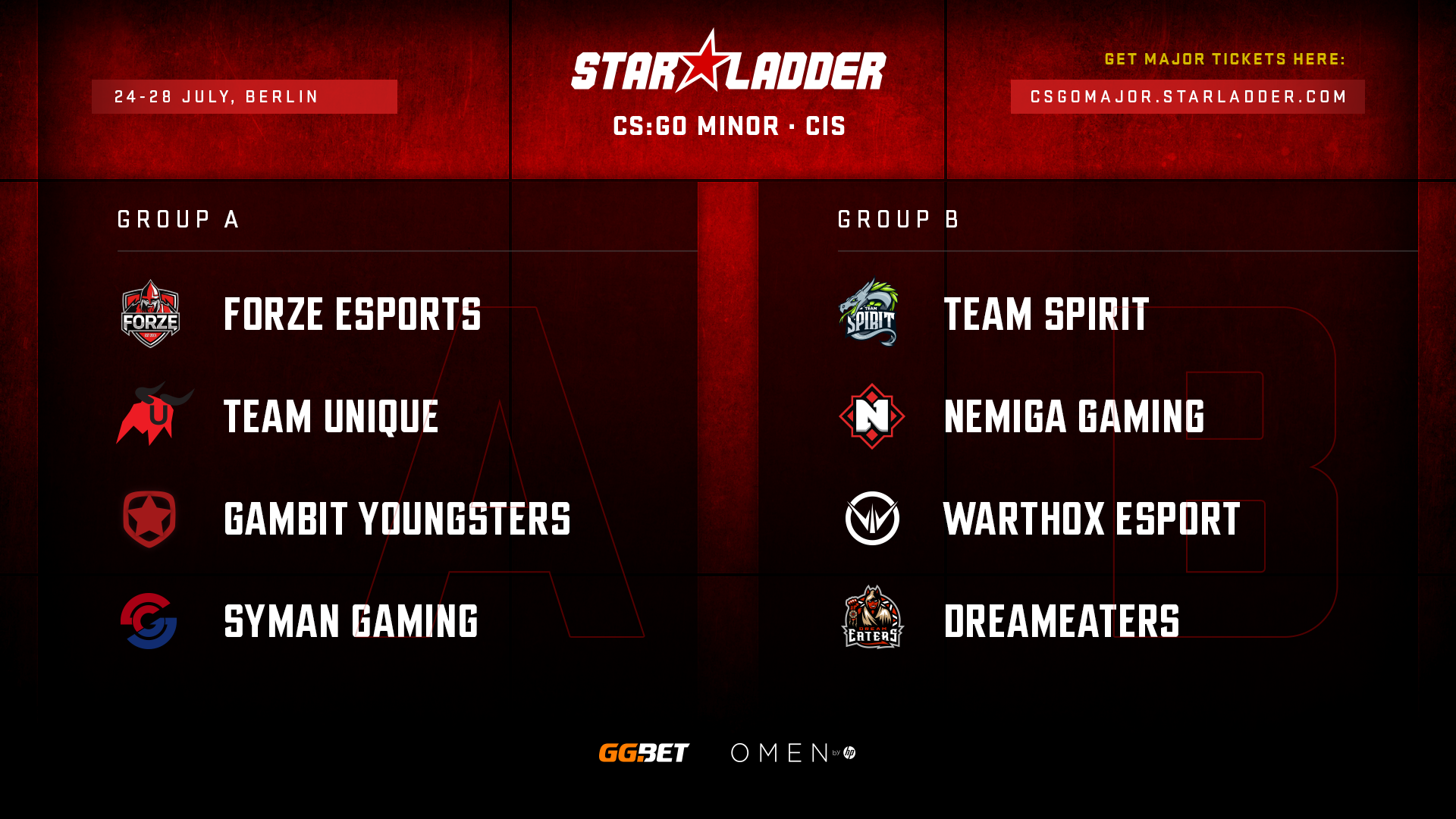 Посев команд на StarLadder Major Berlin 2019: CIS Minor