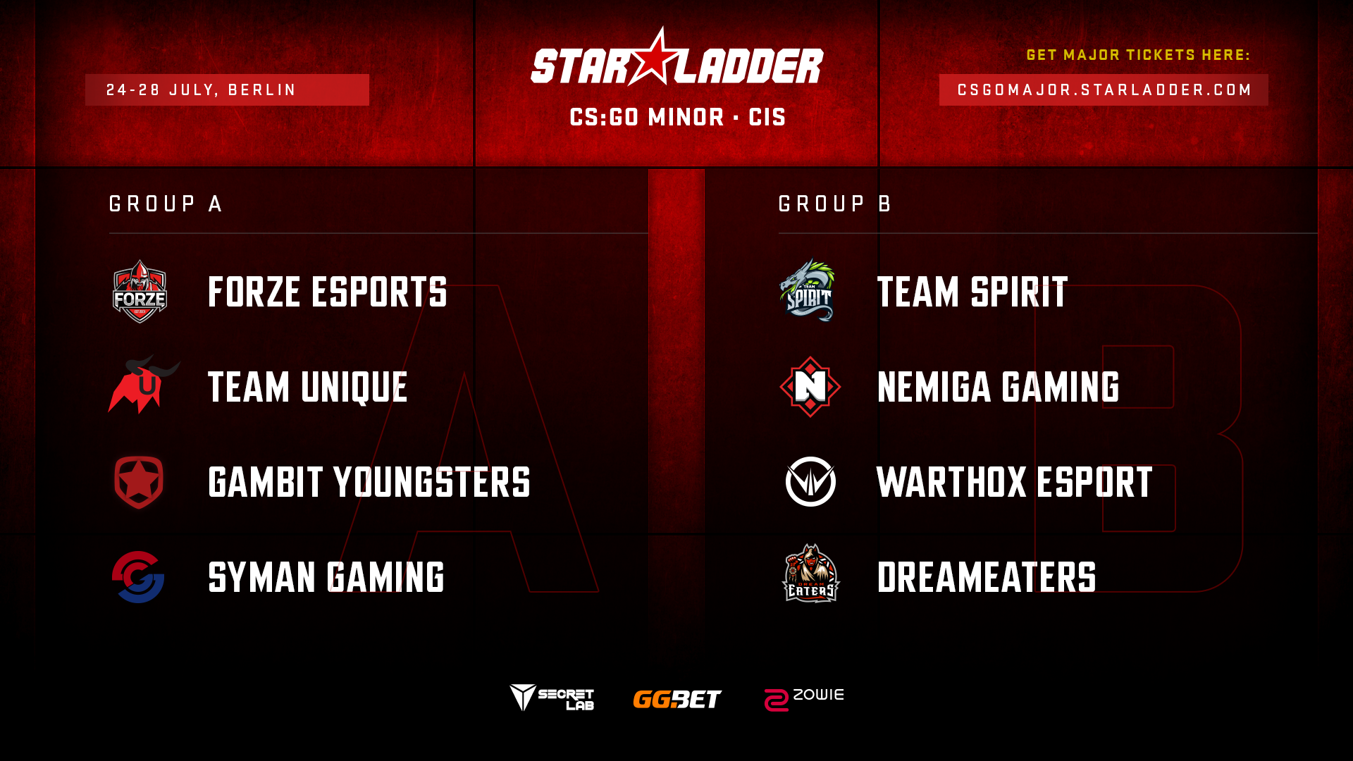 StarLadder Major Berlin 2019: CIS Minor group stage draw