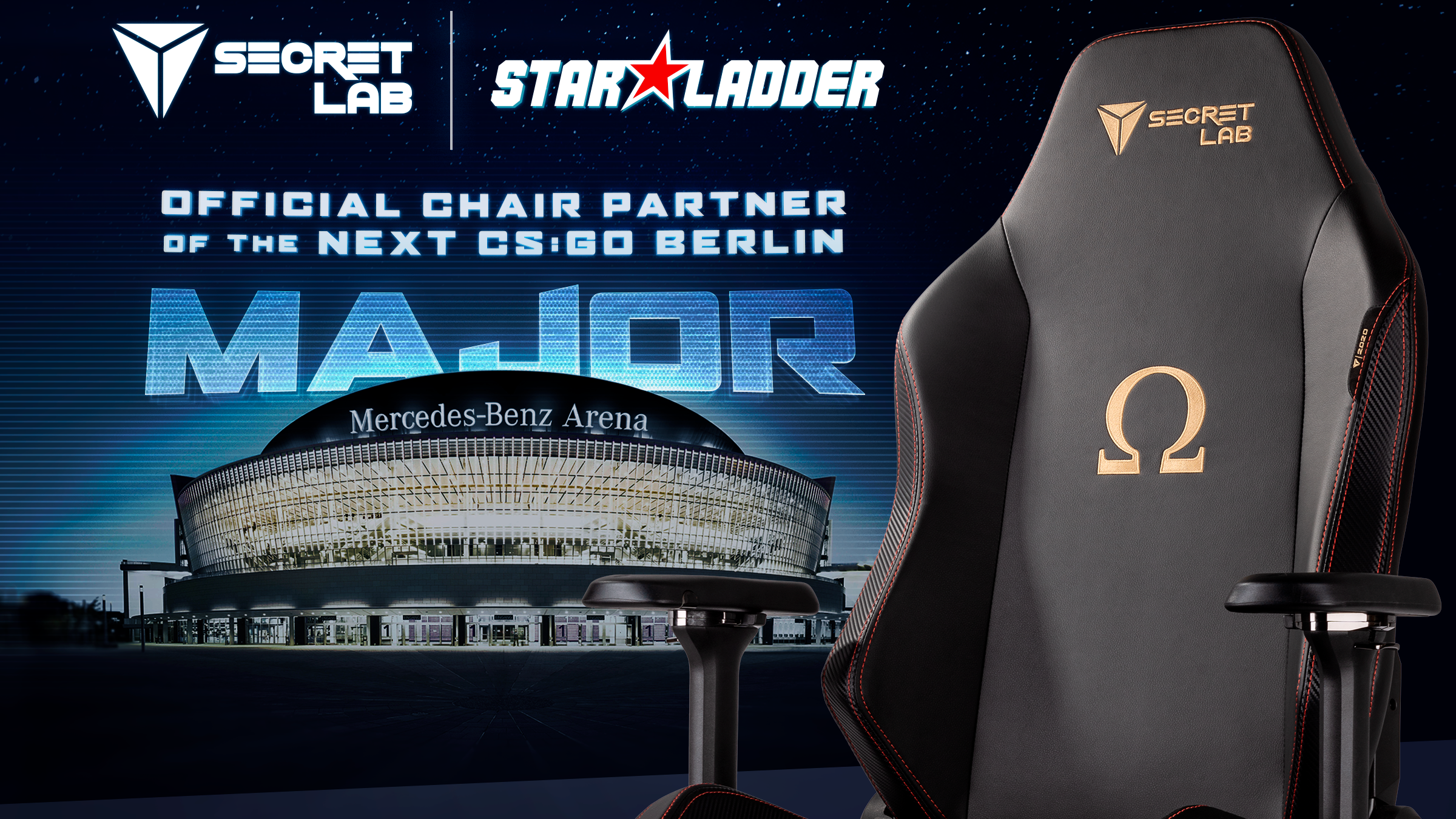 Secretlab – the gaming seats of choice for the CS:GO StarLadder Berlin Major 2019