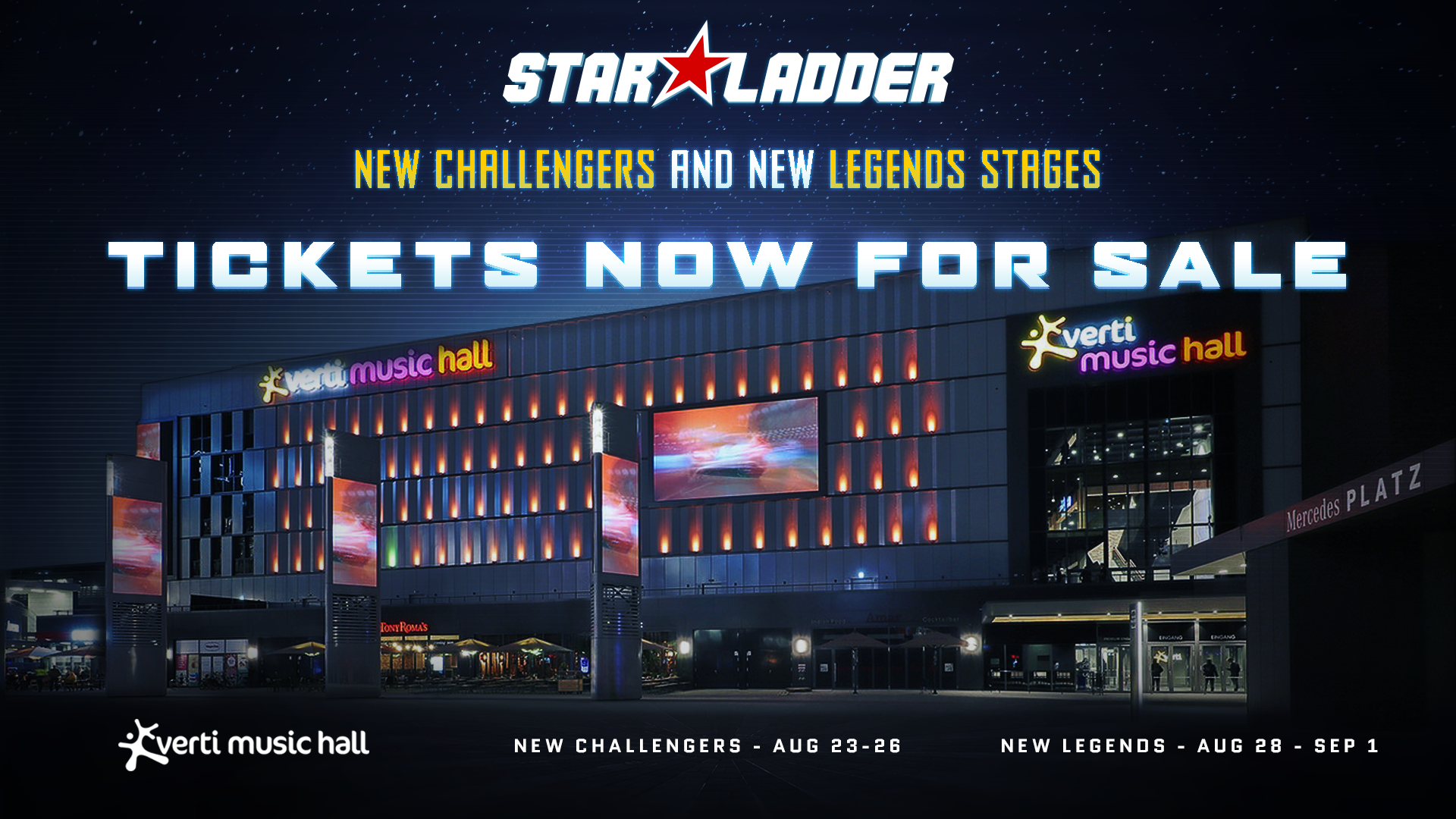 Get your tickets for New Challengers and New Legends stages