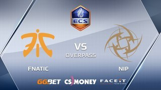 NiP vs fnatic | Overpass | ECS Season 6